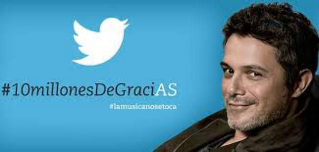 Alejandro Sanz celebra ser el español más seguido en twitter