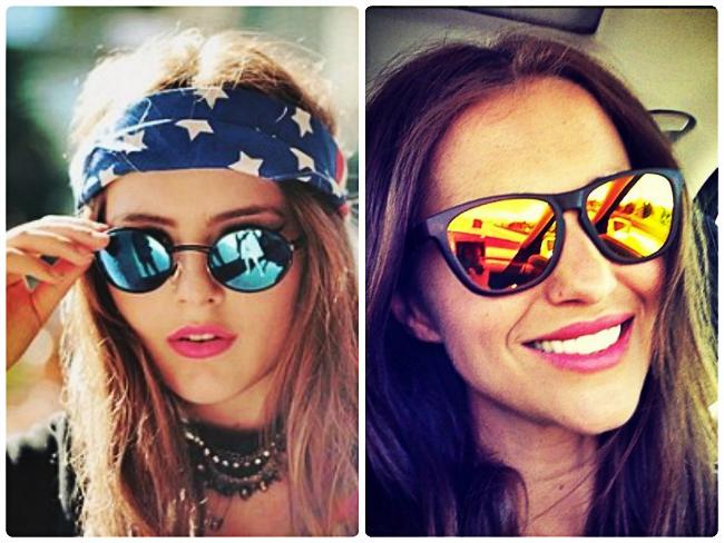 Tendencias para el verano  lentes de sol con efecto de espejo - Unicas f56458bfda7c